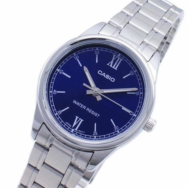 Casio Analog Blue Dial Stainless Steel Band Watch for Women – LTP-V005D-2B2UDF